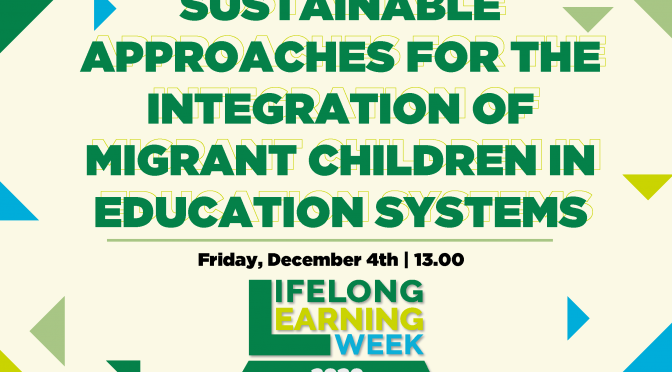 LLL WEEK 2020 : policy debate on migrant children integration in school systems